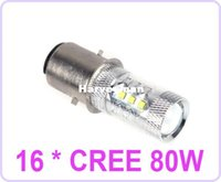 16 * CREE 80W LED Moteur Bike / Moped / Scooter / ATV Phare Ampoule BA20D H6 voiture LEDs Lampe d'éclairage
