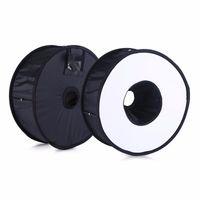 Wholesale Wholesale Macro Flash - Ring Softbox For SpeedLite Flash light 45cm Foldable Difusor Macro Shoot Soft box for Canon Nikon Nissin Metz Godox Speedlight