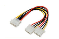 Wholesale ide connector pin online - 500pcs Pin Molex Male to ports Molex IDE Female Power Supply Y Splitter Adapter Cable Computer Power Cable Connector