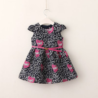 Wholesale Dress Tutu Heart - Everweekend Girls Heart Letter Print Ruffles Dress with Belt Princess Western Korean Fashion Autumn Party Clothing