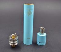 ajuste de cigarrillo electrónico al por mayor-Al por mayor-vapelyfe cigarrillo electrónico mecánico rebuildable goteo RDA mod set 5 colores kit de vapor