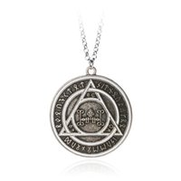 Wholesale Magic Triangles - 2017 Constantine retro Rune triangle Magic circle charm necklaces statement Movie Jewelry Constantine Pendant Necklaces jewelry ZJ-0903166