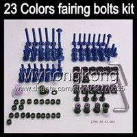 Wholesale Honda Rc51 Body Kits - Fairing bolts full screw kit For HONDA VTR1000 00 01 02 03 04 05 06 RC51 SP1 SP2 VTR 1000 2000 2006 Body Nuts screws nut bolt kit 13Colors
