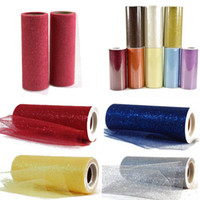 "Wholesale Pink Tulle Fabric Netting - Multicolors Tutu Glitter Tulle Roll Spool 6"" x 25 yards Fabric Netting Wedding Sparkle Gift Wrap Bow Craft"