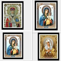 Wholesale Icon Paint - Mosaic 5D DIY Diamond Painting Religious Icon Home Decoration Diamond Embroidery Classic Style Full Square Rhinestone Painting