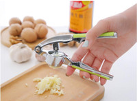 Wholesale New Useful Garlic Press Stainless Steel Kitchen Accessories Gadgets Cooking Vegetable Tools Garlic Pressor Crusher Descascador