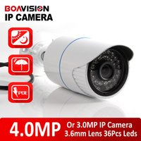 Wholesale H 264 Outdoor Poe - XMEYE H.265 H.264 Bullet 4MP IP Camera Outdoor POE CCTV Security Camera High Resolution HI3516D + 1 3'' OV4689,IR Range 20M