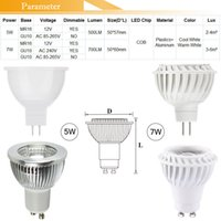 COB LED Light Spot Lamp 110V 220V 12V 5W 7W Spotlight GU10 E27 E14 MR16 Dimmable Bulbs Ampoule Reflector Теплый белый Холодный белый CE ROSH FCC