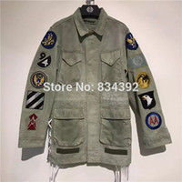 Wholesale Winter Jackets High Fashion Men - Wholesale- Winter High Quality Off White C O VIRGIL ABLOH Jacket Men Women Windbreaker Camouflage Camo Army High Quality Off White Jacket