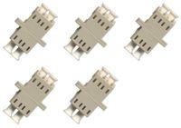 Wholesale fiber adapters resale online - Fiber Optic Cable Adapter coupler LC LC Duplex Multimode Fiber Optic Cable Adapter coupler LC LC Duplex Multimode