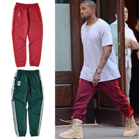 Wholesale Kanye West Pants PABLO Season Sweatpants Elastic Waist Loose Casual Pants Fashion Streetwear Unisex Jogger Sport Pant XL HOG0501