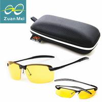 lentes amarillas al por mayor-Al por mayor- Zuan Mei Conducción en la visión nocturna Lente amarilla Hombres Moda gafas de sol polarizadas Ocio Verano gafas de conducción Mujeres Goggle R3043