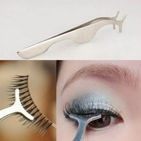 Wholesale Extensions Clips - Wholesale New Hot Silver False Eyelash Extension Remover Applicator Nipper Tweezer Clip Makeup Tool Free Shipping