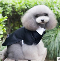Wholesale Dog Gentleman - Dog Clothes Coat 2017 Dog Wedding Clothes Gentleman Suit Outerwears Puppy Clothes Puppy Small Dog Coat Pet Apparel 85