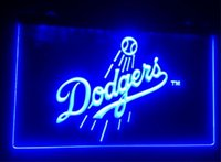 Wholesale Club Decor - b131 Los Angeles Dodgers beer bar pub club 3d signs led neon light sign home decor crafts