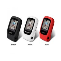 Wholesale Playing Car Games - Wholesale- Original RUIZU X09 Mini Sport MP3 Music Player With Screen Play 30 Hours music FM E-Book Clock Data Smallest Car MP3 Player 4GB