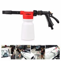 Wholesale Car Washing Foam Gun - Wholesale- Multifunctional Car Washer Compatible Snowing Foam Gun Sprayer 900ML Car Washing Cleaning Foam Gun For Car Motorcycle Washer