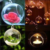 Wholesale Candle Holders Wall Decor - 1Pcs Fashion Candle Holder Hanging Clear Globe Glass Terrarium Air Plant Decor