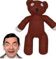 Wholesale Mr Bean Toys - 23cm cartoon Mr Bean BEAR Stuffed Plush Toy bear animals children gift Bear Plush Toys Stuffed Doll birthday gifts KKA3040