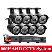 Wholesale Hard Disk Camera Security System - Home AHD 960P 8CH HDMI CCTV DVR 960P 1.3MP Black Video Security Camera AHD System Home Surveillance System with1TB hard disk