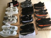 Wholesale Picture Seasons - Real picture black red Season 3 SPLY 350 Boost V2 With Box 2017 Black Grey Orange Running Shoes Sneakers 350 Boost V2 woman man shoes