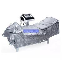 massager de circulation sanguine achat en gros de-3 en 1 pressothérapie infrarouge chaleur minceur enveloppement vêtements pression massager circulation sanguine EMS Stimulation Musculaire Électrique minceur équiper