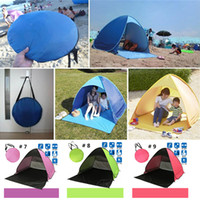 Wholesale Single Person Beach Tent - Summer Tents Quick Automatic Opening 50+ UV Protection Outdoor Gear Camping Shelters Tent Beach Travel Lawn Multicolor 10 PCS Dropshipping