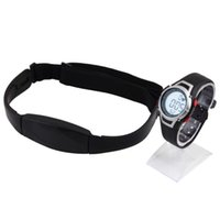 Wholesale Monitor Strap - Wholesale- Hot 1Pcs new Heart Rate Monitor Sport Fitness Watch Favor Outdoor Cycling Sport Waterproof Wireless With Chest Strap