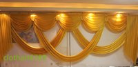 Wholesale Decoration Wedding Curtain Lights - 6m wide swags valance wedding stylist backdrop Party drop Curtain Celebration Stage Performance Background