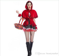 Wholesale New Arrival Little Red Riding Hood Halloween Stage Costumes Little Red Riding Hood mascot Dress Halloween PS6093