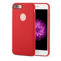 iphone 5s jöle durumlarda toptan satış-Iphone 7 için kılıf officia stil TPU cilt tecture durumlarda jöle mat buzlu kapak ile iphone 5 5 s se için yuvarlak tasarım 7 s 7 artı iphone 8