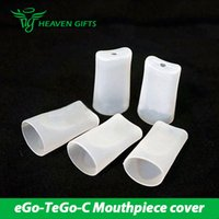 Wholesale Ego Tank Cover - Rubber Mouthpiece Cover Type A & Type B Shapes Mouthpiece Cover For eGo-T eGo-C Tank Cartridges DHL Free Shipping 100% Original