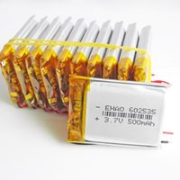Wholesale Dvd Game - 3.7V 500mAh 602535 Lithium Polymer LiPo cells Rechargeable Battery ion power For Mp3 headphone DVD GPS mobile phone Camera psp game Toys