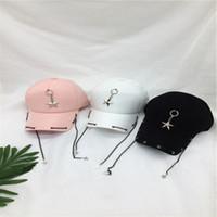 ingrosso cappelli rosa neri snapbacks-La stella libera di trasporto di Hiphop Snapbacks cappelli a catena lunghi della roccia per le donne degli uomini ricopre i cappucci di pallacanestro bianco rosa nero