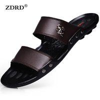 Wholesale Casual Sandal Designs - Wholesale-2016 New Design Men Sandals Men Breathable PU Leather Sandals Summer Flat Heel Casual Sandals Men Beach Flip Flops Slippers