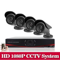 Wholesale Dvr Hdd Hdmi - HD 1080P HDMI 8CH 1080P Security AHD DVR CCTV Kit AHD 8 Channel CCTV Kits Security 2.0MP 4PCS 3000TVL Camera System 1TB HDD