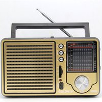 Wholesale Free Desktop Radio - Wholesale-Antique vintage retro full-band Portable FM radio older desktop support USB elderly consumer electronics gift free shipping
