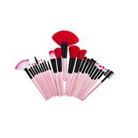 ingrosso spazzole professionale di trucco 32 set-24 32 pezzi / set Spazzole per trucco Kabuki Set di pennelli per trucco professionale per cosmetici Ombretto per labbra Pennello per arrossire Pennello per trucco Kit per strumenti
