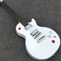 Wholesale Guitars Custom 24 - Custom Arcade Button Killswitch Buckethead Signature Alpine White Electric Guitar Rosewood Fingerboard No Inlays 24 Jumbo Frets Top Selling