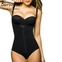 Оптово-Burvogue Clips или Zip Full Body Shaper Women Waist Trainer Похудение Shapewear Butt Lifter Tummy Control Талия Shaper Underwear