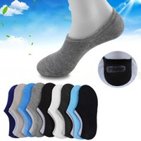 Wholesale male silicone bodies for sale - Group buy New outdoor sports solid color cotton men s sports boat socks male ship socks silicone invisible socks for sale
