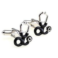 Wholesale Cufflink Stethoscope - Wedding Gifts for Guests Stethoscope Shape Cufflinks Mens Shirt Cuff Links for Men Classic Wedding Gift Novelty Fancy Charm Jewelry DHL Free
