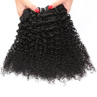 Wholesale Cheap Kinky Curls Hair Extensions - Factory wholesale price Brazilian Peruvian Malaysian Virgin Hair Weave Cheap kinky Curl Brazilian Human Hair Extensions KINKY Curly Wave