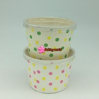 Wholesale Plain Cupcake Papers - Hot!!!50pcs Plain White Round paper cupcake case ice cream cups NO Lid by Registered airmail