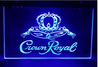 corona real iluminada signo de barra al por mayor-Corona Royal Derby Whisky 2 tamaño NR cerveza bar pub club señales 3D led luz de neón signo hombre cueva