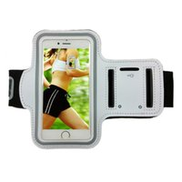 Wholesale Gym Workout Bags - For iphone 7 Armband Cover Sports Running Gym Case Workout Armband Holder Pounch For Samsung S8 S7 Arm Phone Bag