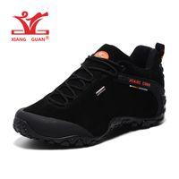 Wholesale Warm Waterproof Winter Sneakers - Man Waterproof Hiking Shoes for Men Suede Warming Athletic Trekking Boots Sports Climbing Shoe Outdoor Walking Sneakers EUR 47 48 = US 14 15