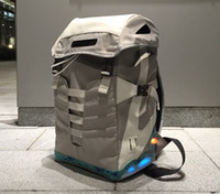 Wholesale Womens Back Packs - New Back to the Future Backpacks Air Mag Mens womens Unisex Led Lighting COMBACK Mags Sport&Outdoor Packs Bags Grey Color With Battery