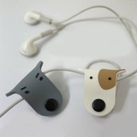 Wholesale Headphones Cable Wrap - Wholesale Cute Dog Earphone Headphone Line Cable Cord Protector Winder Organize Manager Wrap Winder for Cellphone Headset