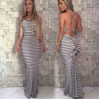 Wholesale maxi dresses for sale - On sale 2016 popular plus size dresses best selling elegant striped women dress for wedding party thin maxi ladies dresses